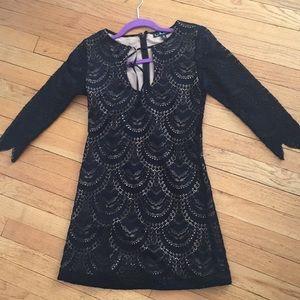 For Love of Lemons size S black lace dress